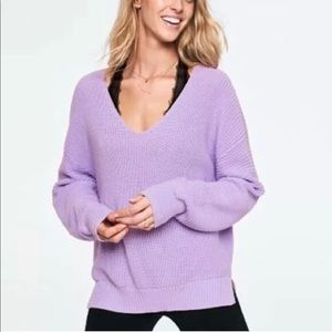 NEW Victoria's Secret  PINK SLOUCHY V-NECK SWEATER